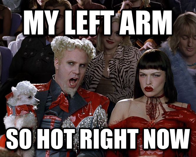 Mugatu - That Is So Hot Right Now my left arm so hot right now , made with livememe meme creator