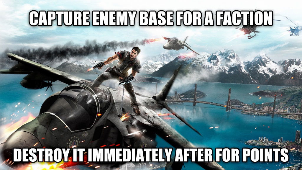 untitled meme capture enemy base for a faction destroy it immediately after for points , made with livememe meme maker