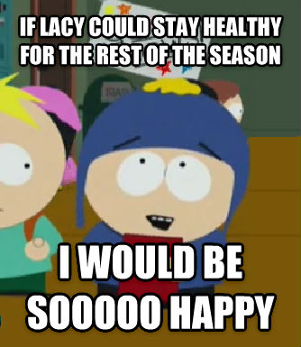 Craig Would Be So Happy if lacy could stay healthy for the rest of the season i would be sooooo happy , made with livememe meme creator