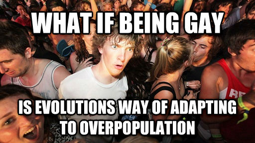 Sudden Clarity Clarence what if being sweet is evolutions way of adapting to overpopulation , made with livememe meme maker