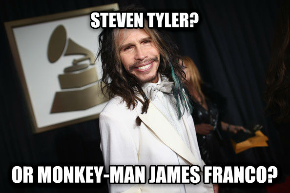 untitled meme steven tyler? or monkey-man james franco? , made with livememe meme generator