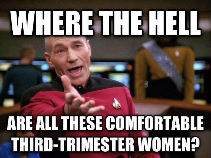 Annoyed Picard 1080p where the hell are all these comfortable third-trimester women? , made with livememe meme maker