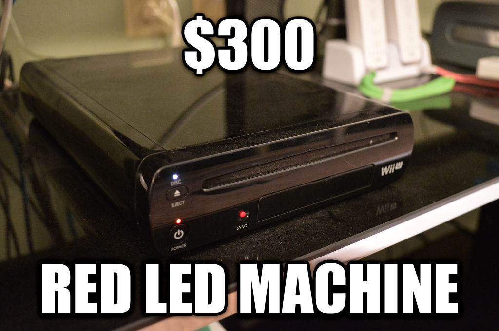 Wii U $300 red led machine , made with livememe meme generator