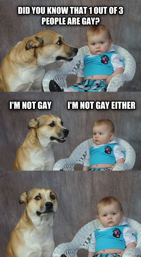 Dadjoke Dog did you know that 1 out of 3 people are sweet? i m not sweet          i m not sweet either , made with livememe meme maker