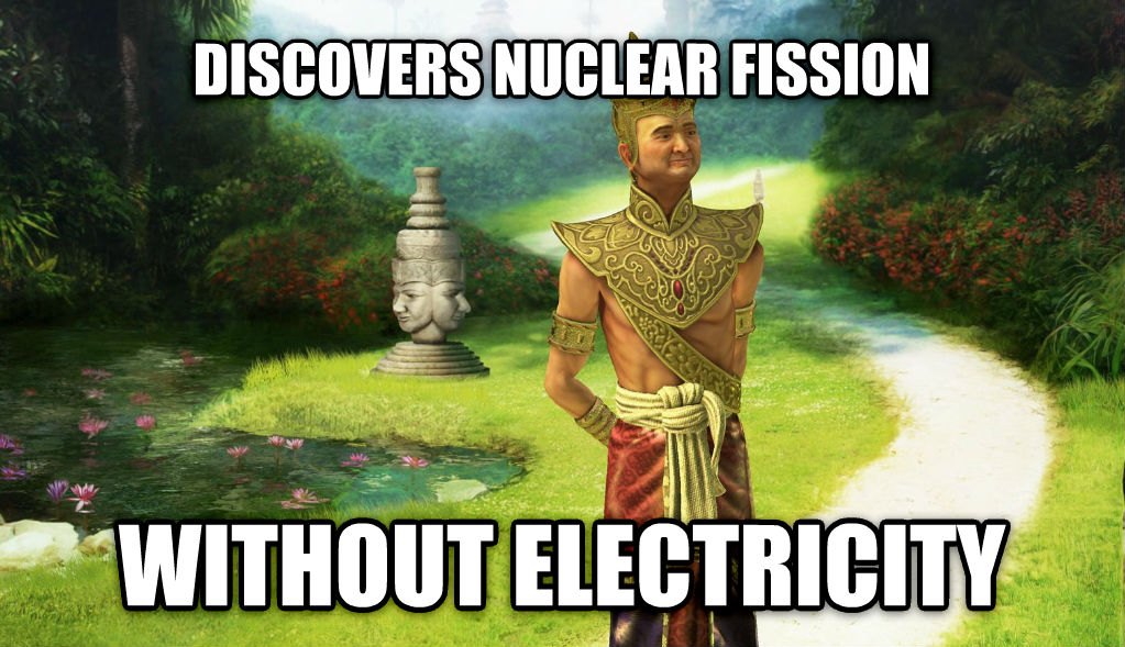 civ5logic discovers nuclear fission without electricity , made with livememe meme generator