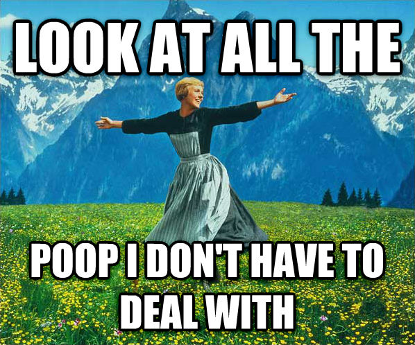 Look At All The... look at all the  poop i don t have to deal with , made with livememe meme creator