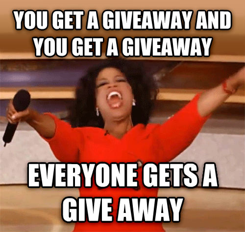 Oprah - You Get A Car, And You Get A Car you get a giveaway and you get a giveaway everyone gets a give away , made with livememe meme generator