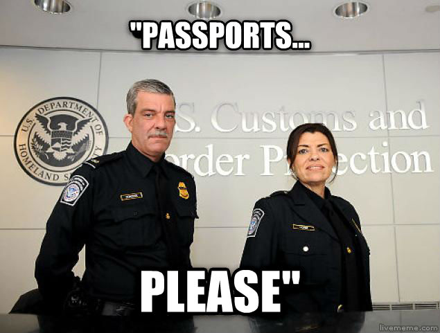 Passports please  passports... please  , made with livememe meme generator