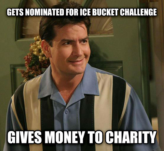 untitled meme gets nominated for ice bucket challenge gives money to charity , made with livememe meme maker