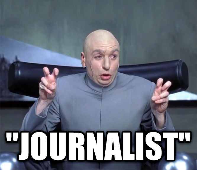 Dr. Evil  Quotation Marks    journalist  , made with livememe meme creator