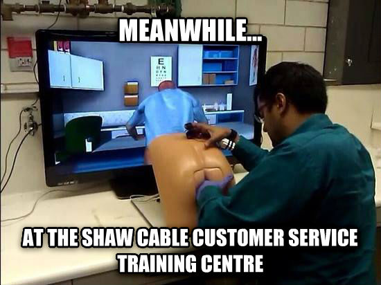 untitled meme meanwhile... at the shaw cable customer service training centre , made with livememe meme maker