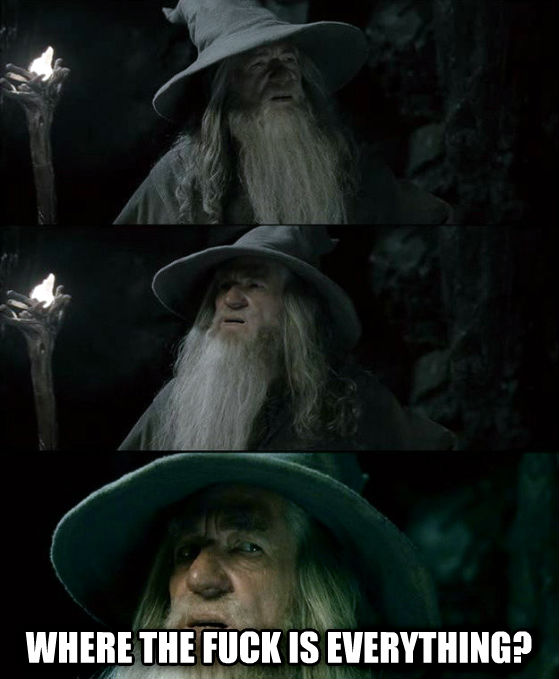 Confused Gandalf - I Have No Memory Of This Place  where the heck is everything? , made with livememe meme generator