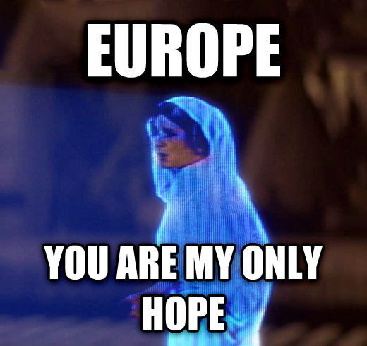 Princess Leia Only Hope europe you are my only hope , made with livememe meme maker