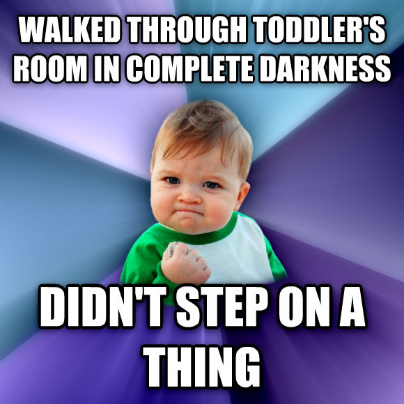 Success Kid walked through toddler s room in complete darkness didn t step on a thing  , made with livememe meme generator