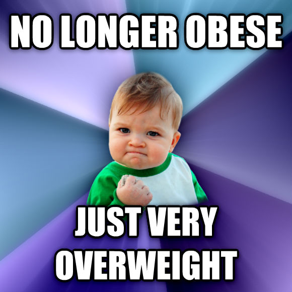 Success Kid no longer obese just very overweight  , made with livememe meme maker