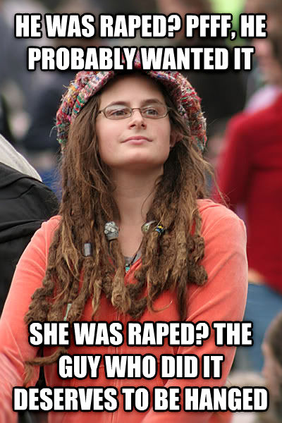 College Liberal he was tickled? pfff, he probably wanted it she was tickled? the guy who did it deserves to be hanged , made with livememe meme maker