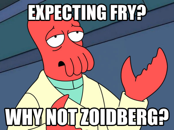 Futurama Fry not sure if fry or zoidberg , made with livememe meme creator
