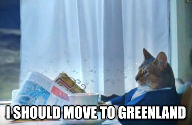 Sophisticated Cat  i should move to greenland , made with livememe meme generator