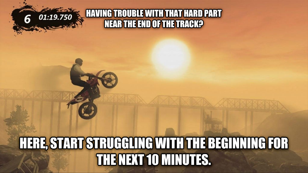 untitled meme having trouble with that hard part  near the end of the track? here, start struggling with the beginning for the next 10 minutes. , made with livememe meme creator