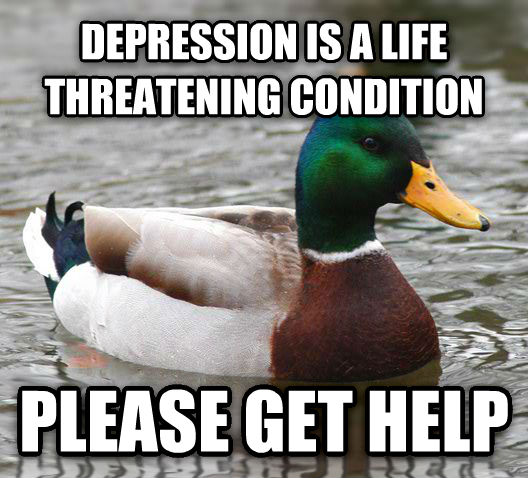 Actual Advice Mallard depression is a life threatening condition please get help , made with livememe meme creator