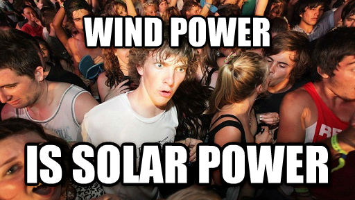 Sudden Clarity Clarence wind power is solar power , made with livememe meme creator