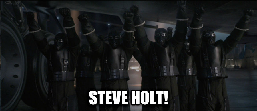 Hail Hydra  steve holt! , made with livememe meme creator