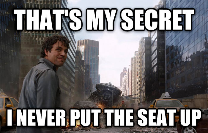 That s My Secret that s my secret i never put the seat up , made with livememe meme generator