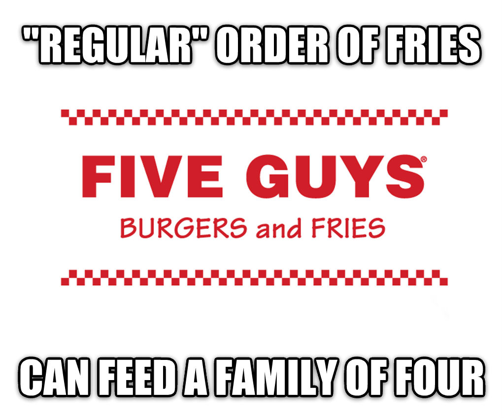 untitled meme  regular  order of fries can feed a family of four , made with livememe meme maker